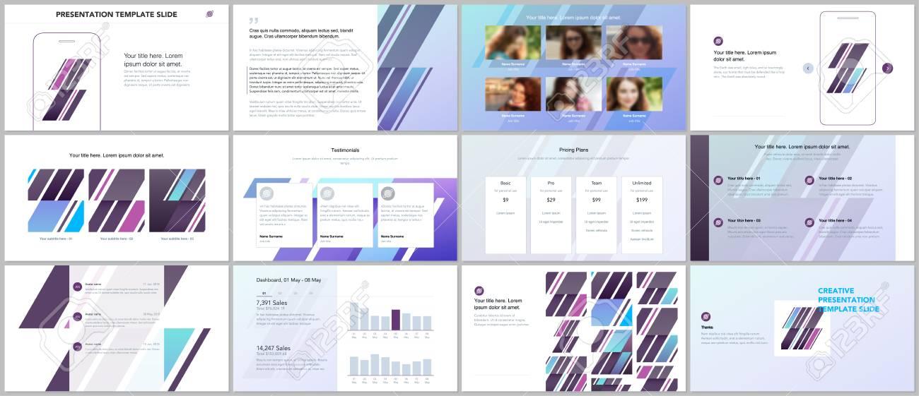 minimal presentations portfolio templates simple elements on white background brochure cover vector design