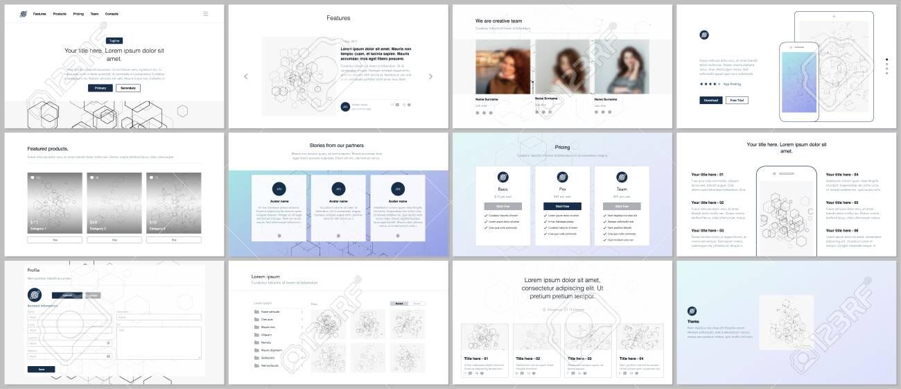 Vector Templates For Website Design Minimal Presentations - E portfolio templates
