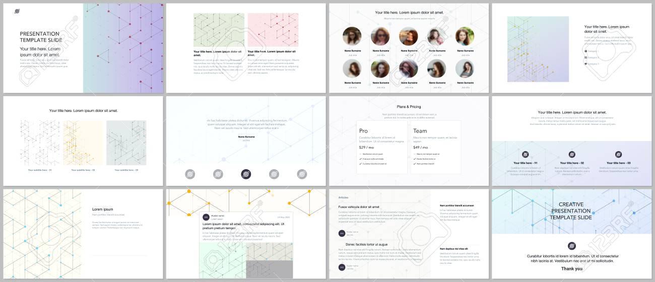 Minimal Presentations Portfolio Templates Line Art Pattern