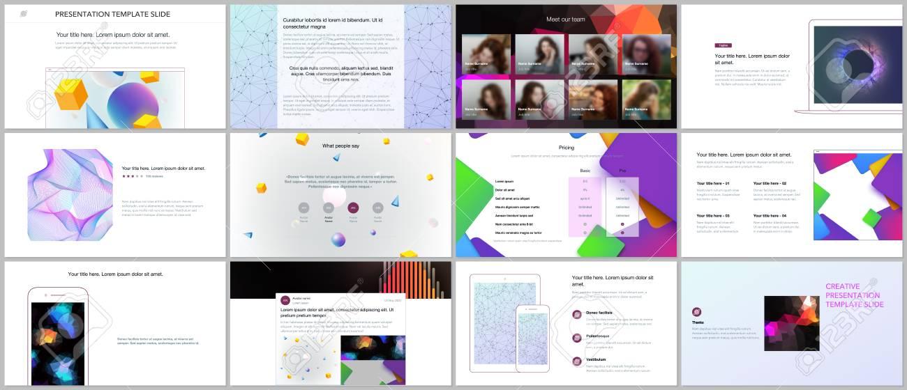 Minimal Presentation Portfolio Templates With Vibrant Geometric