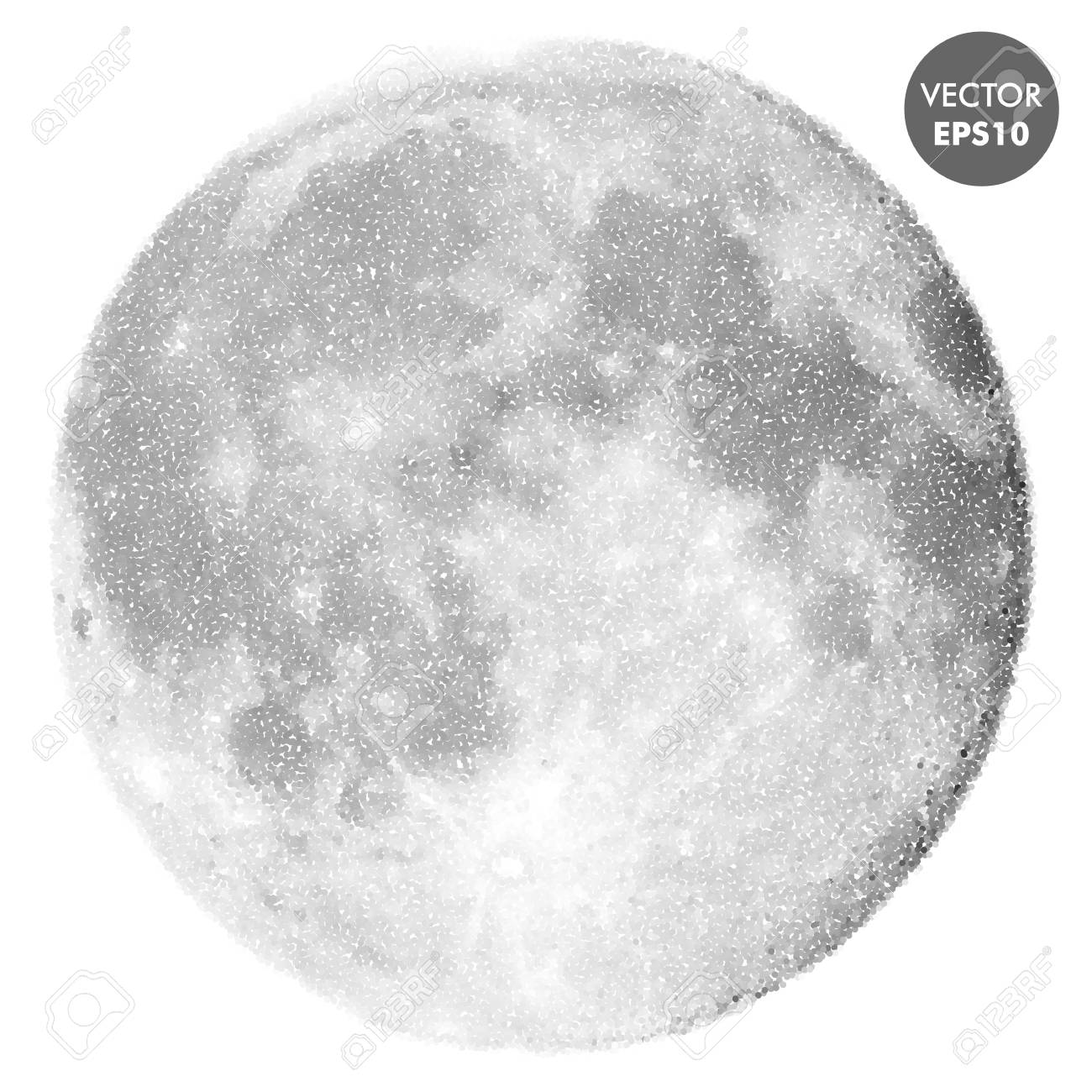 moon vector illustration space abstract spotted texture royalty rh 123rf com moon vector image moon vector eps