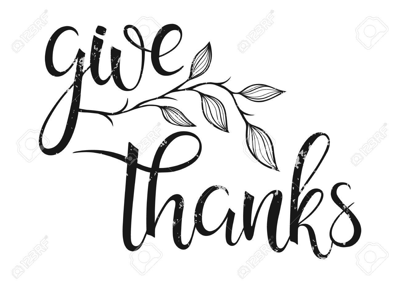 Thanksgiving Typography Give Thanks