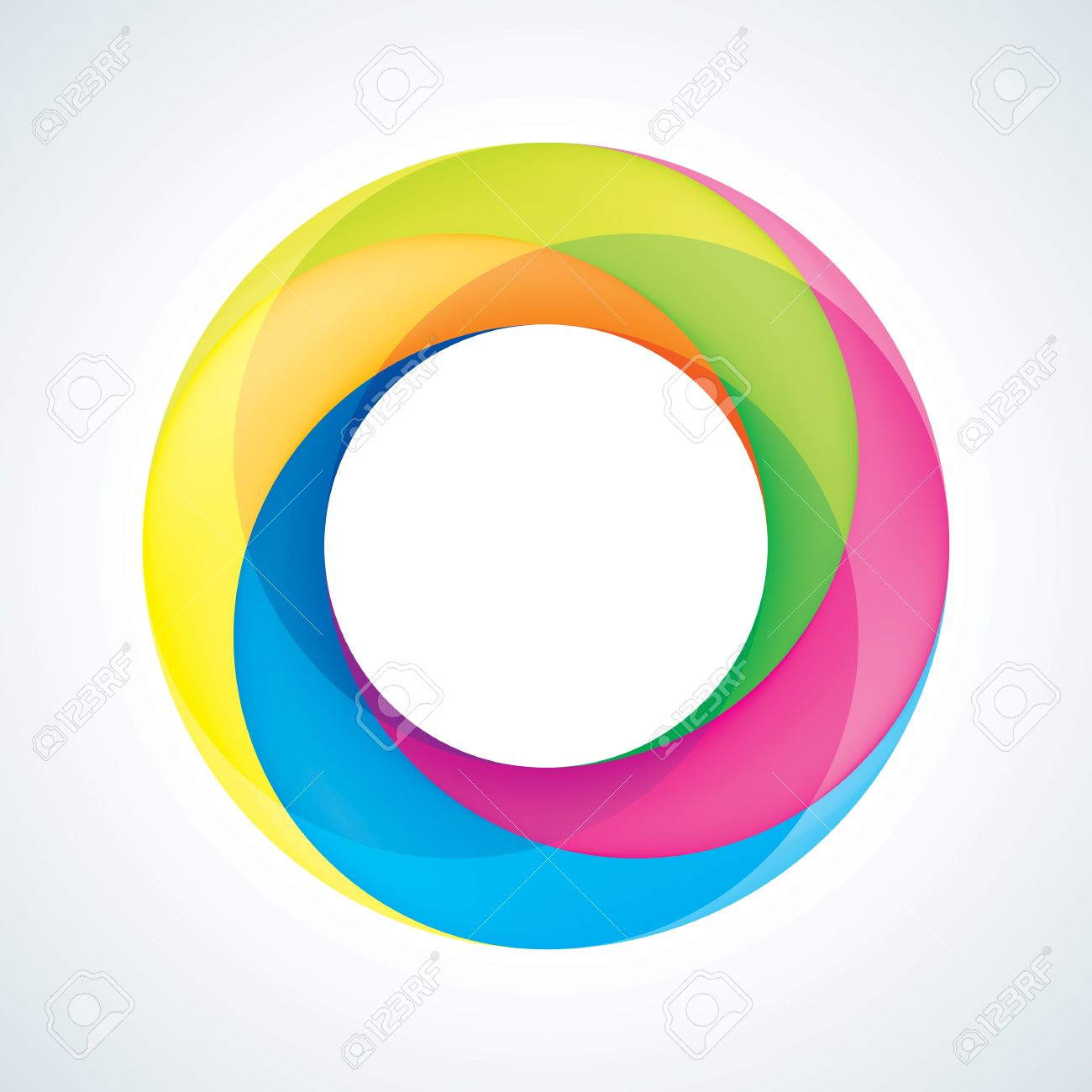 abstact infinite circle logo template corporate icon royalty free