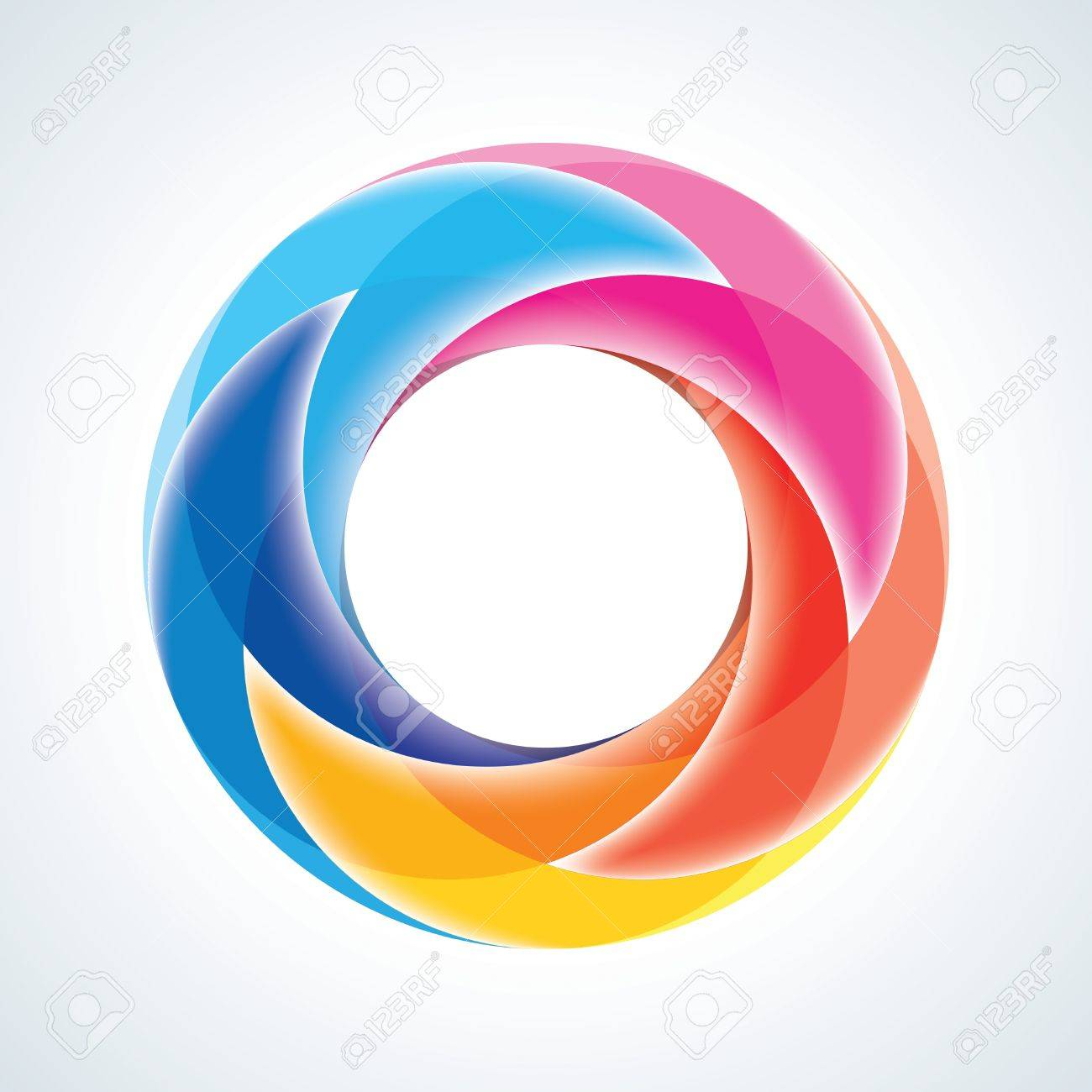 Abstract Infinite Loop Sign Template  Corporate Icon  5 Pieces Shape  EPS10 Stock Vector - 18393086