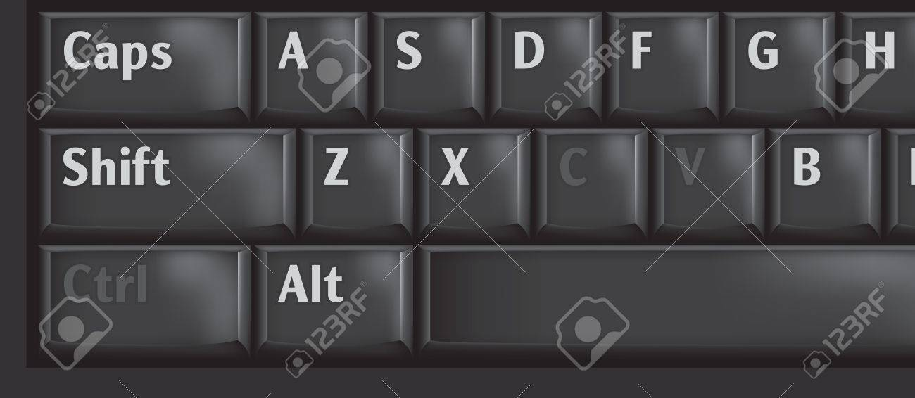 Computer keyboard keys used CTRL, C and V for copypaste Stock Vector - 18559070