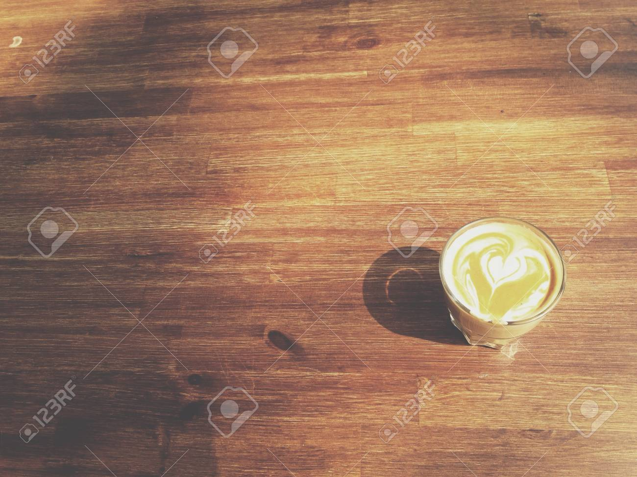 Short coffee wooden table Stock Photo - 21395403