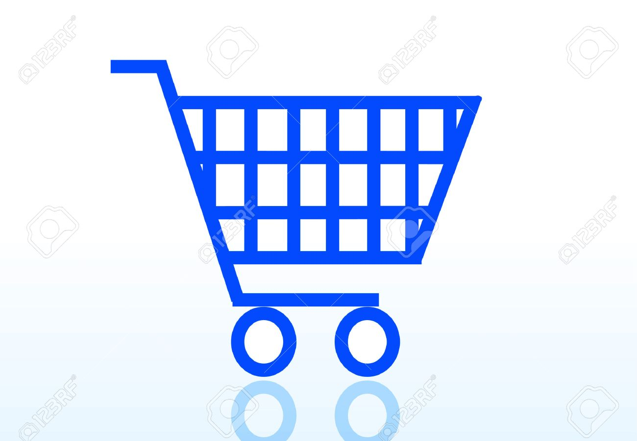 shopping cart icon isolated on white background Stock Vector - 5918135
