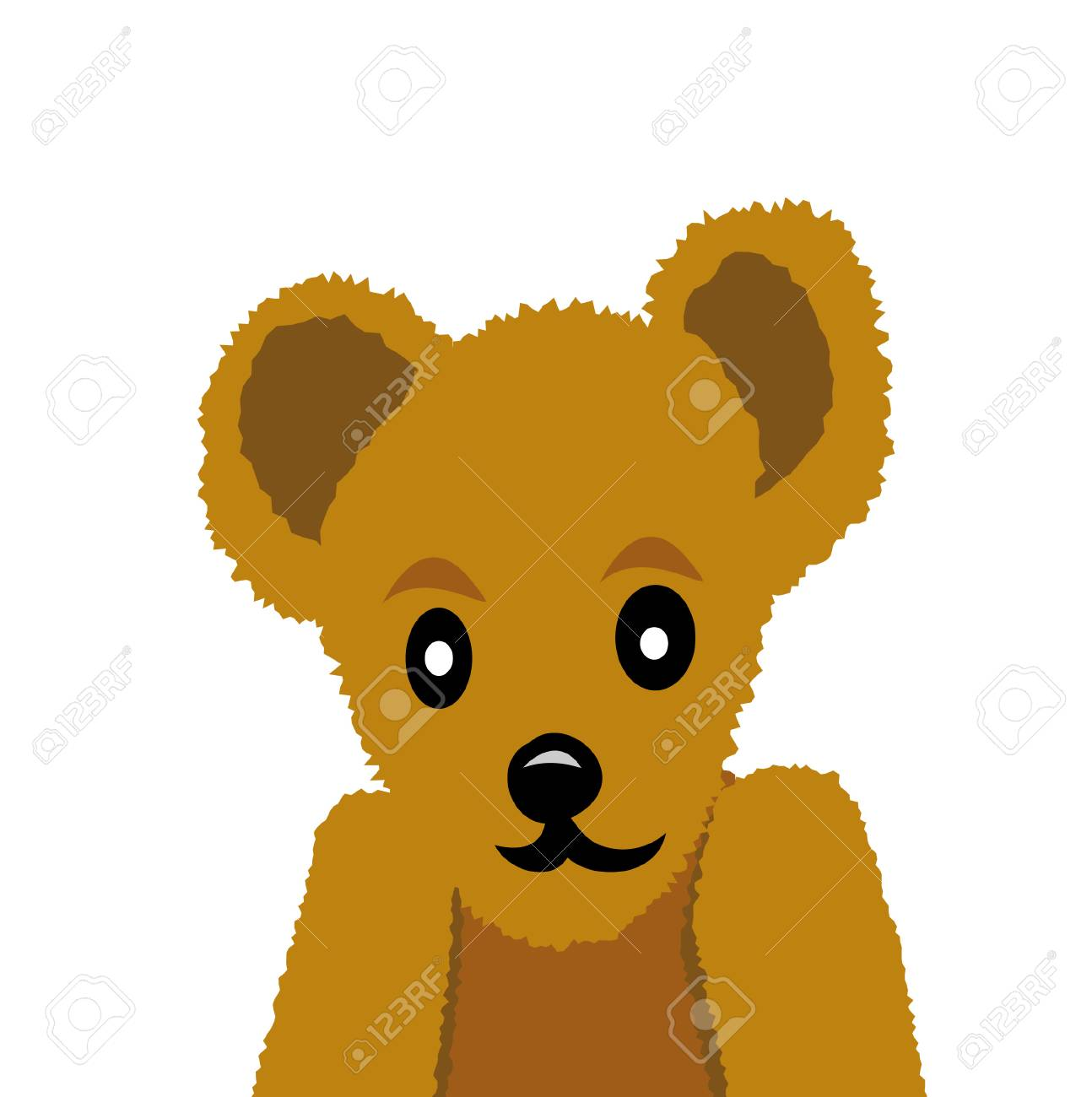 nice teddy bear isolated on white background Stock Vector - 6175607