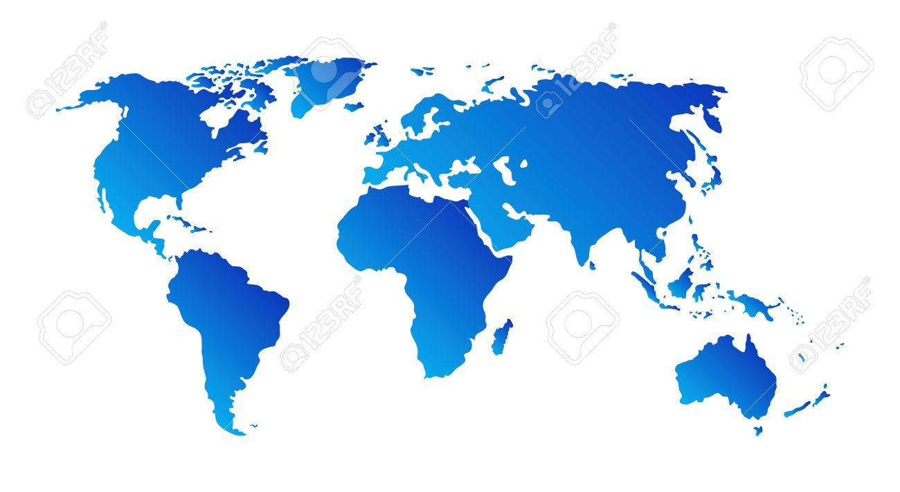 world map isolated on white background Stock Vector - 7422145