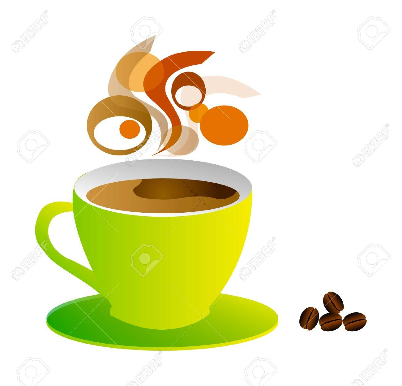 nice illustration - make a break and take one cup of coffee Stock Vector - 7477370