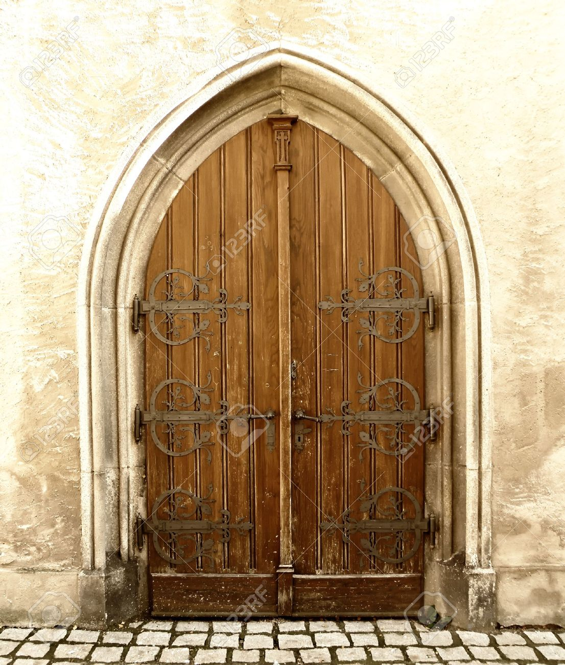 detail of an old church or castle door Stock Photo - 7992276