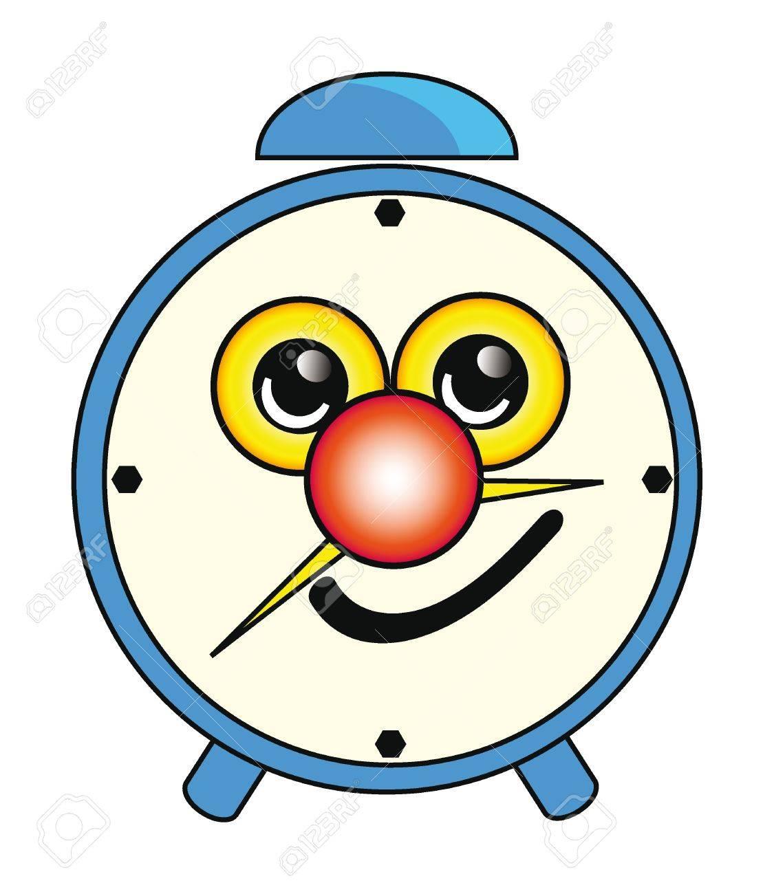 Illustration of happy cartoon alarm clock isolation over white background Stock Vector - 8904210