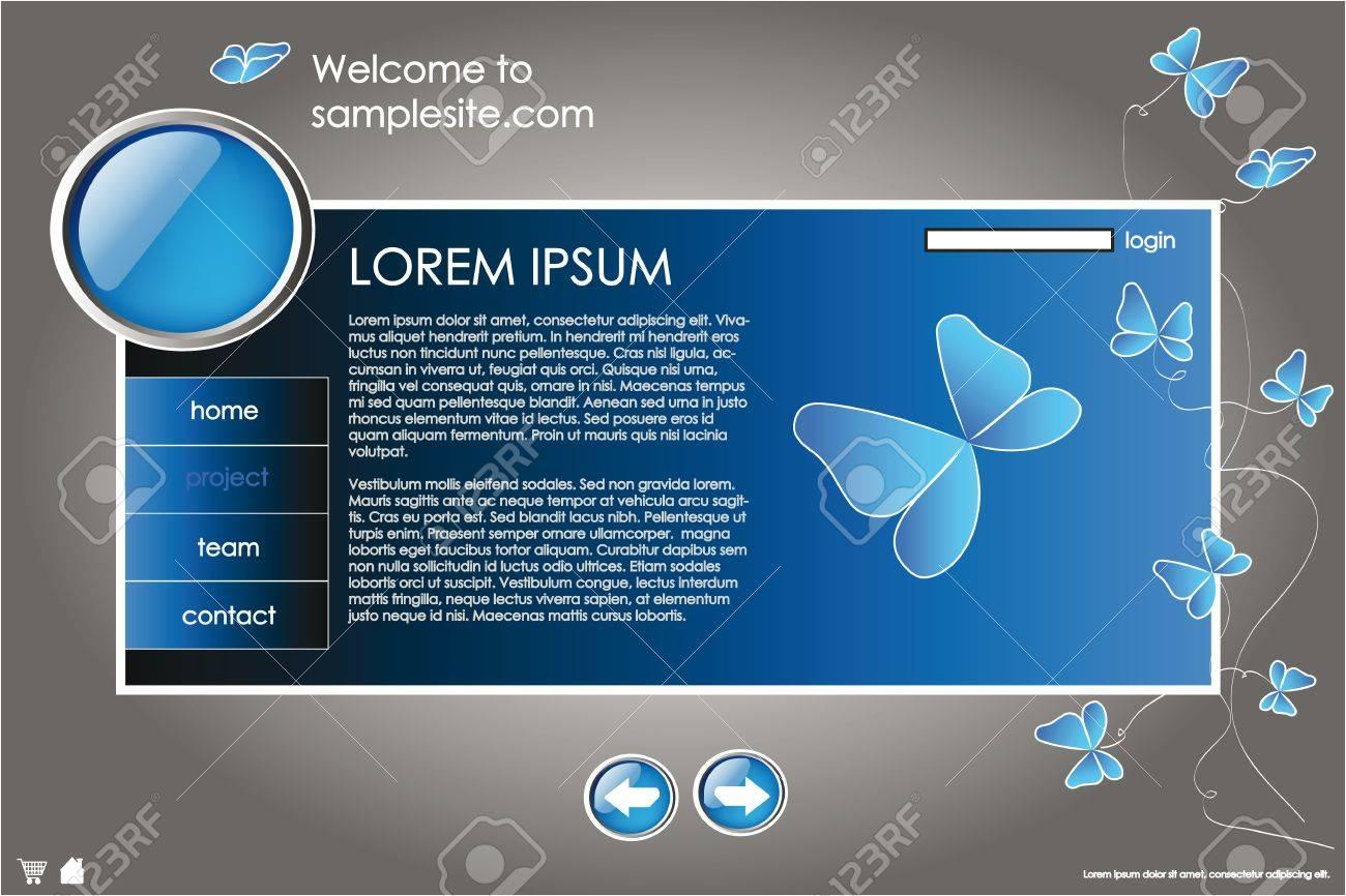 Plantilla De Diseño De Sitio Web Para La Empresa Con Fondo Azul ...