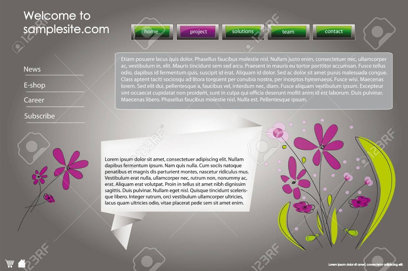 Sitio Web De Diseño De La Plantilla De La Empresa Con El Marco, Los ...