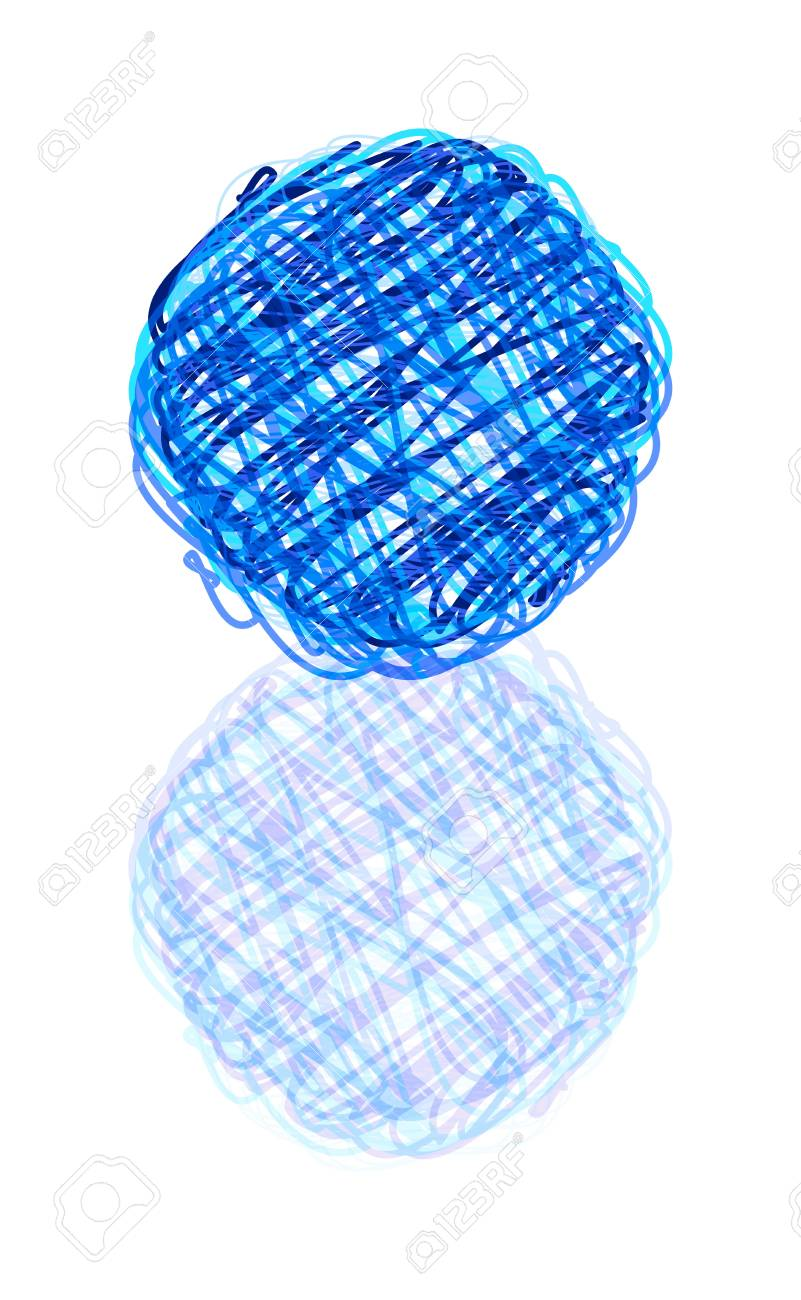 vector scribble ball with reflection isolated over white background Stock Vector - 11259251