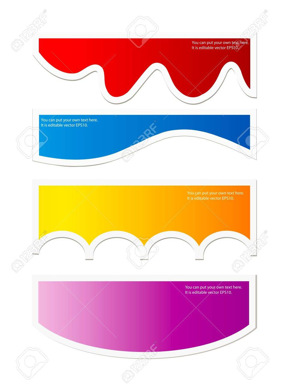 Vector colorful bubbles or labels for speech isolaton over white background Stock Vector - 11658208