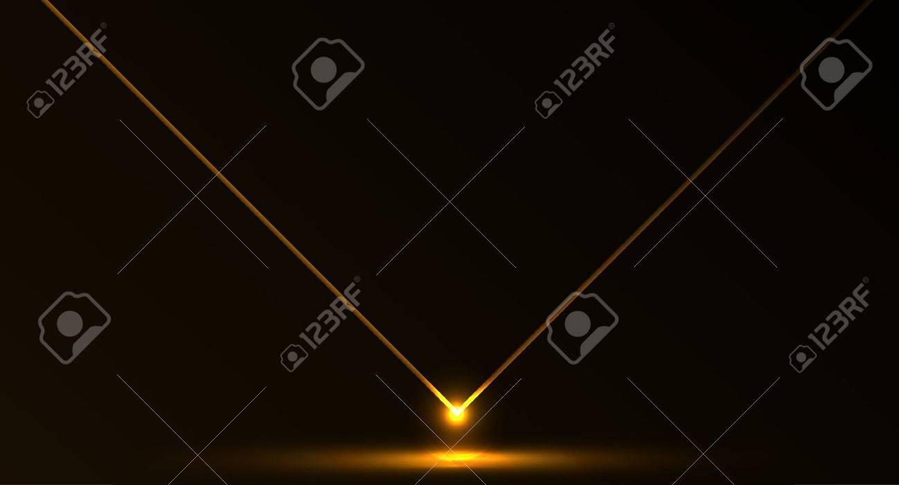 Nice vector laser light in orange fire color and dark background Stock Vector - 11814687
