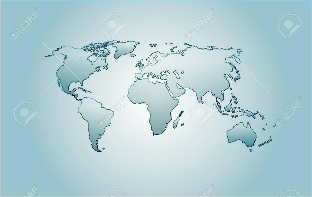 Vector Glass World Map America Africa Australia Europe Asia - Australia on world map