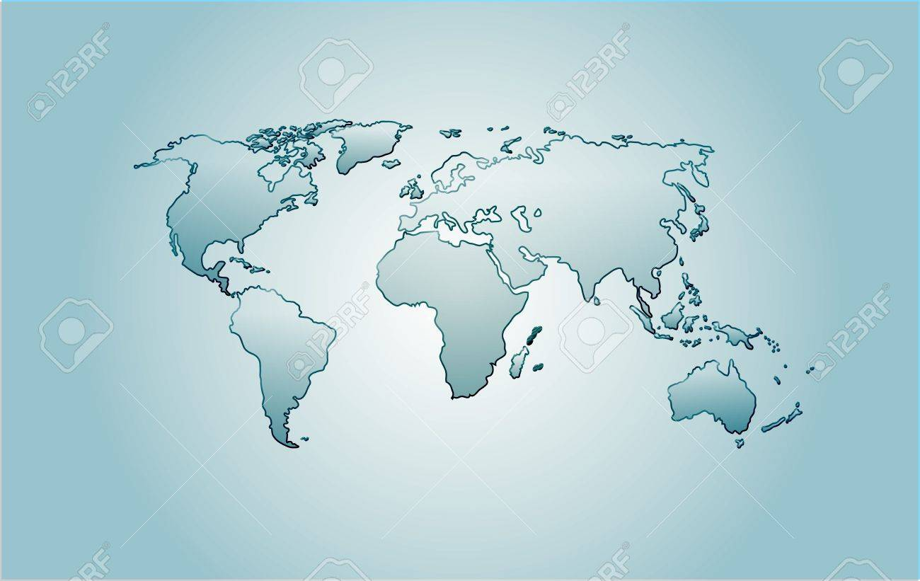 Vector glass world map america africa australia europe asia vector glass world map america africa australia europe asia over blue background gumiabroncs Image collections