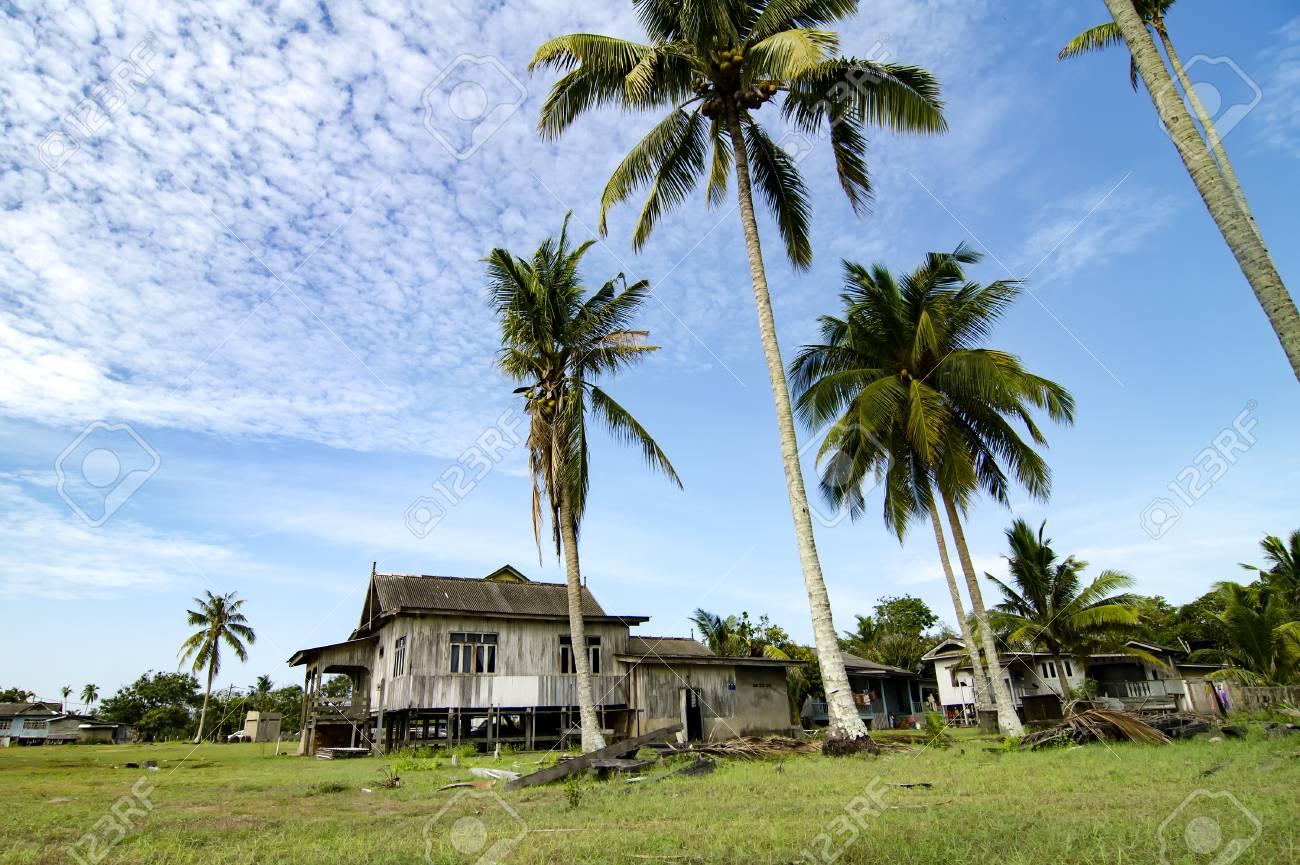 Beautiful Village Scenery Located In Terengganu Malaysia