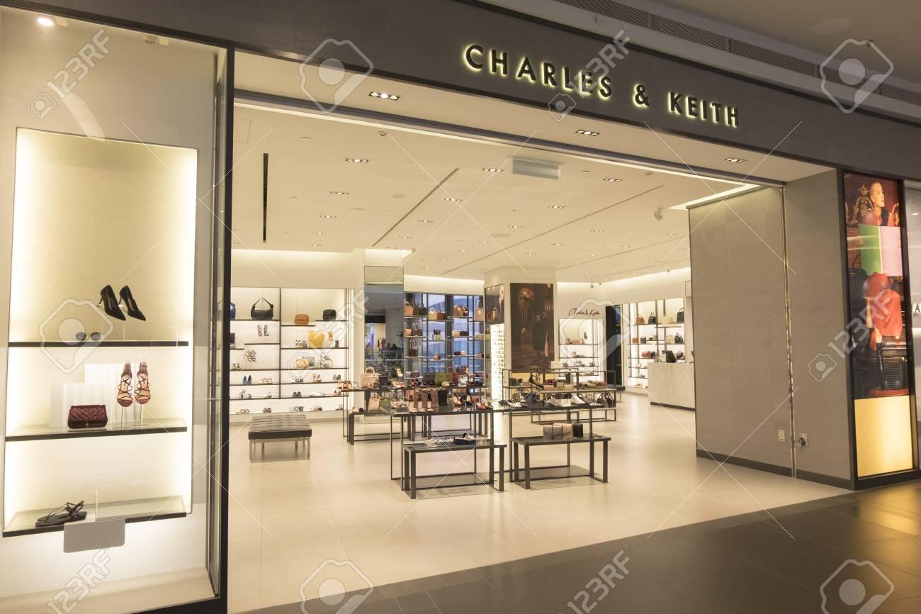 KUALA LUMPUR, MALAYSIA - DECEMBER 31, 2017: CHARLES & KEITH store