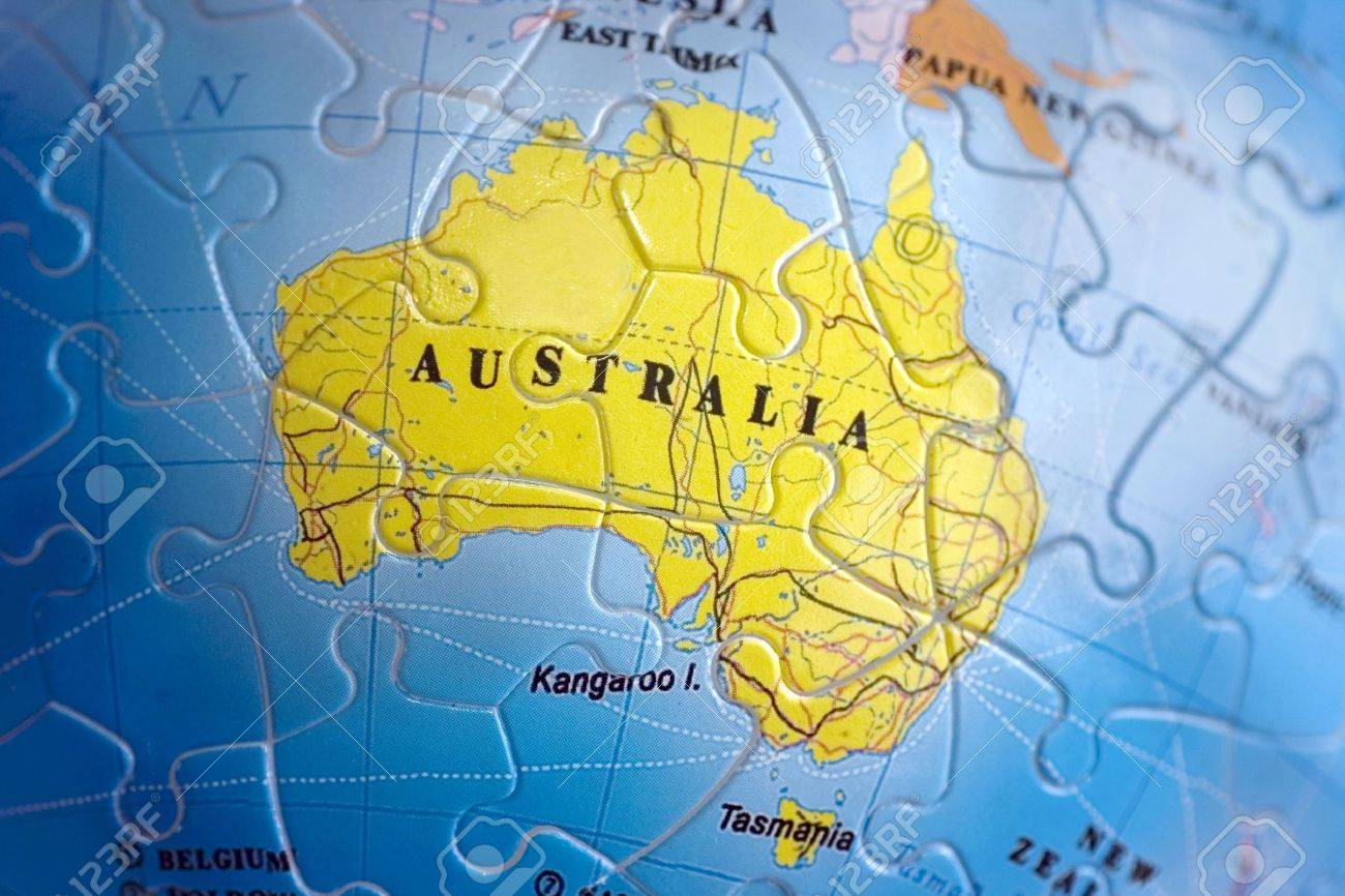 Australia Map Puzzle Stock Photo, Picture And Royalty Free Image