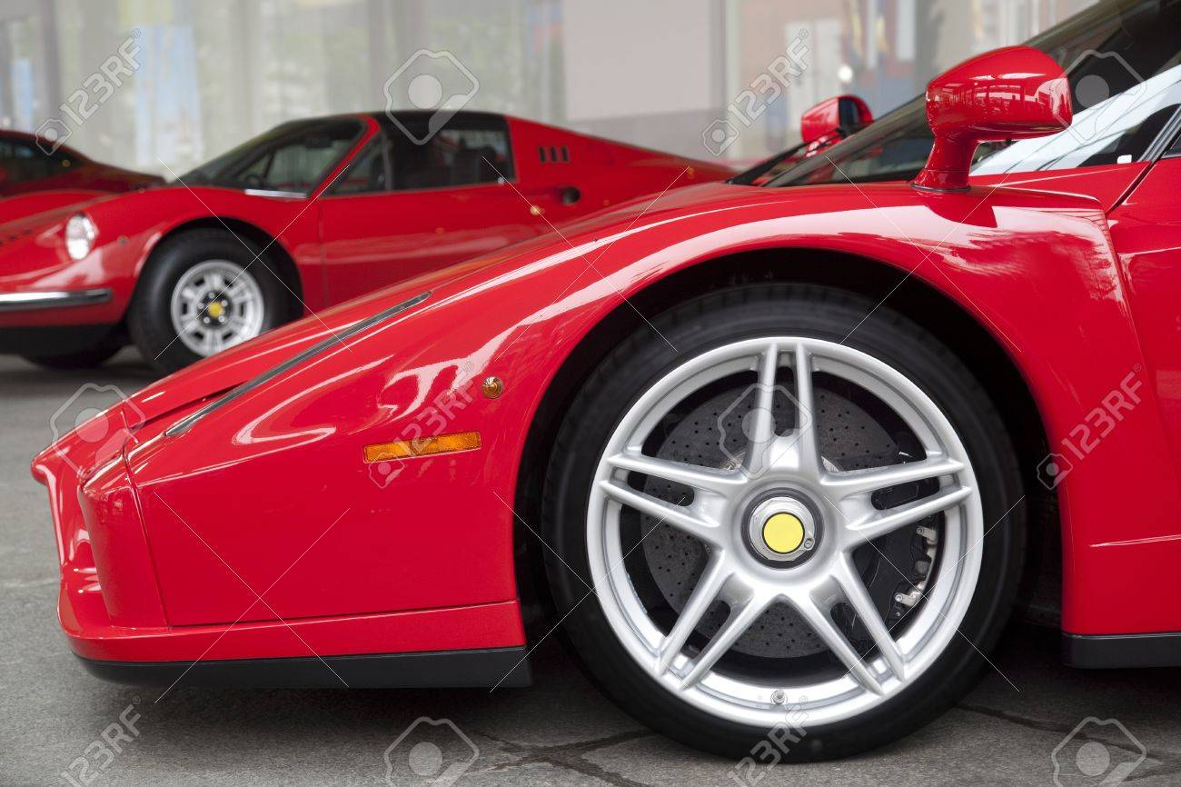 Close Up Shot Of Red Ferrari Enzo Isolated On White Stock Photo Picture And Royalty Free Image Image 9774908