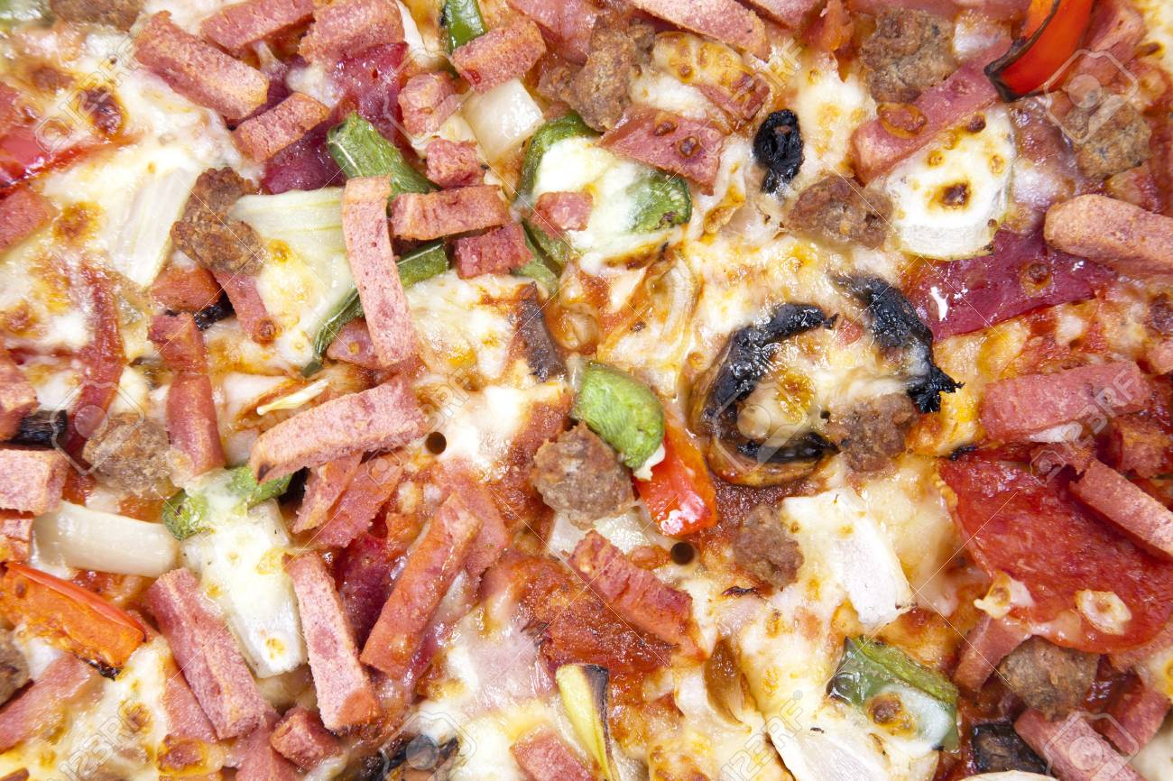 Close up of pizza can be used as background Stock Photo - 9945135
