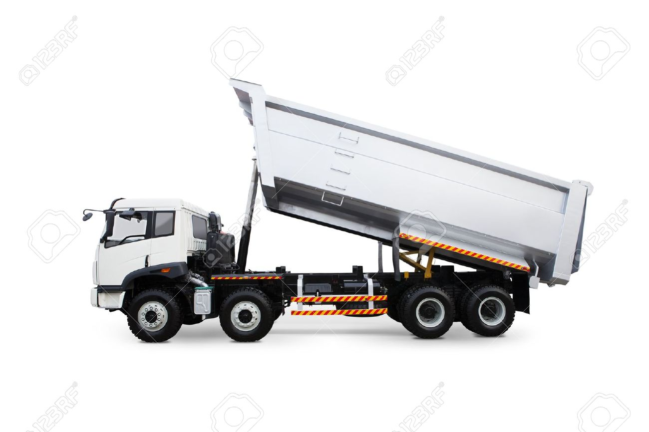 A dump truck isolated on white background Stock Photo - 15474403