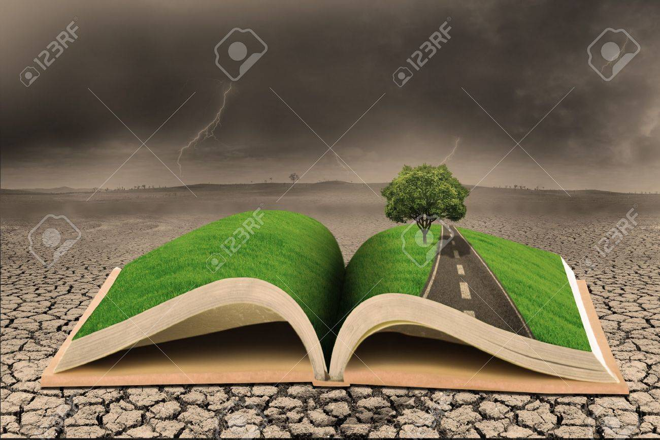 Book of environment on a draught land Stock Photo - 18518981
