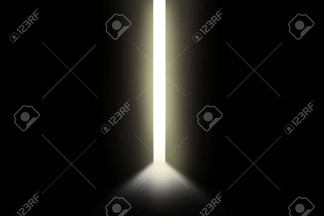 Bright light through an open door in empty room Stock Photo - 49251138