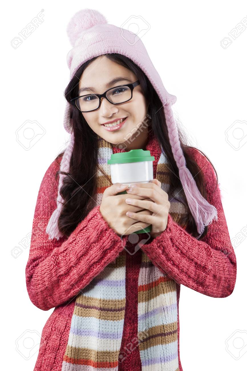 c328a766f Portrait Of Teenage Girl Wearing Winter Wear