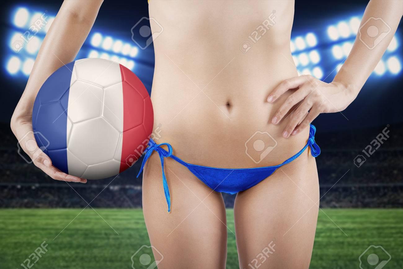 Soccer sex girl in blue
