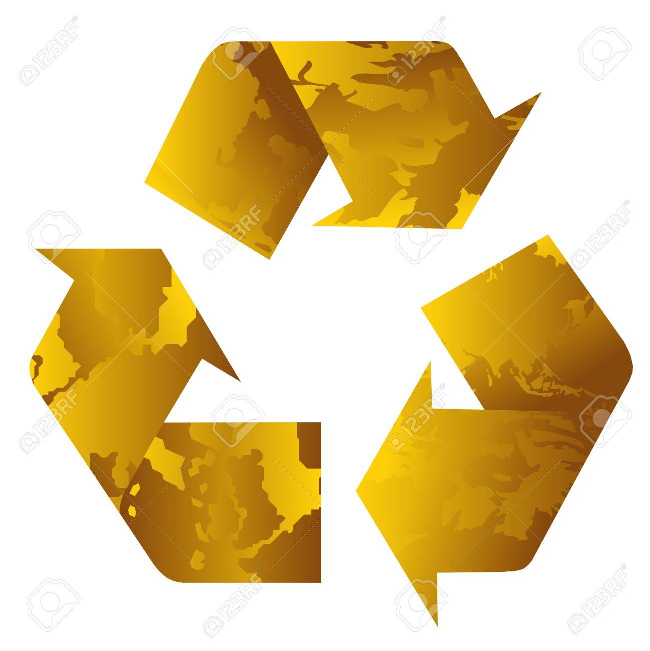 Recycle yellow Stock Vector - 7582177