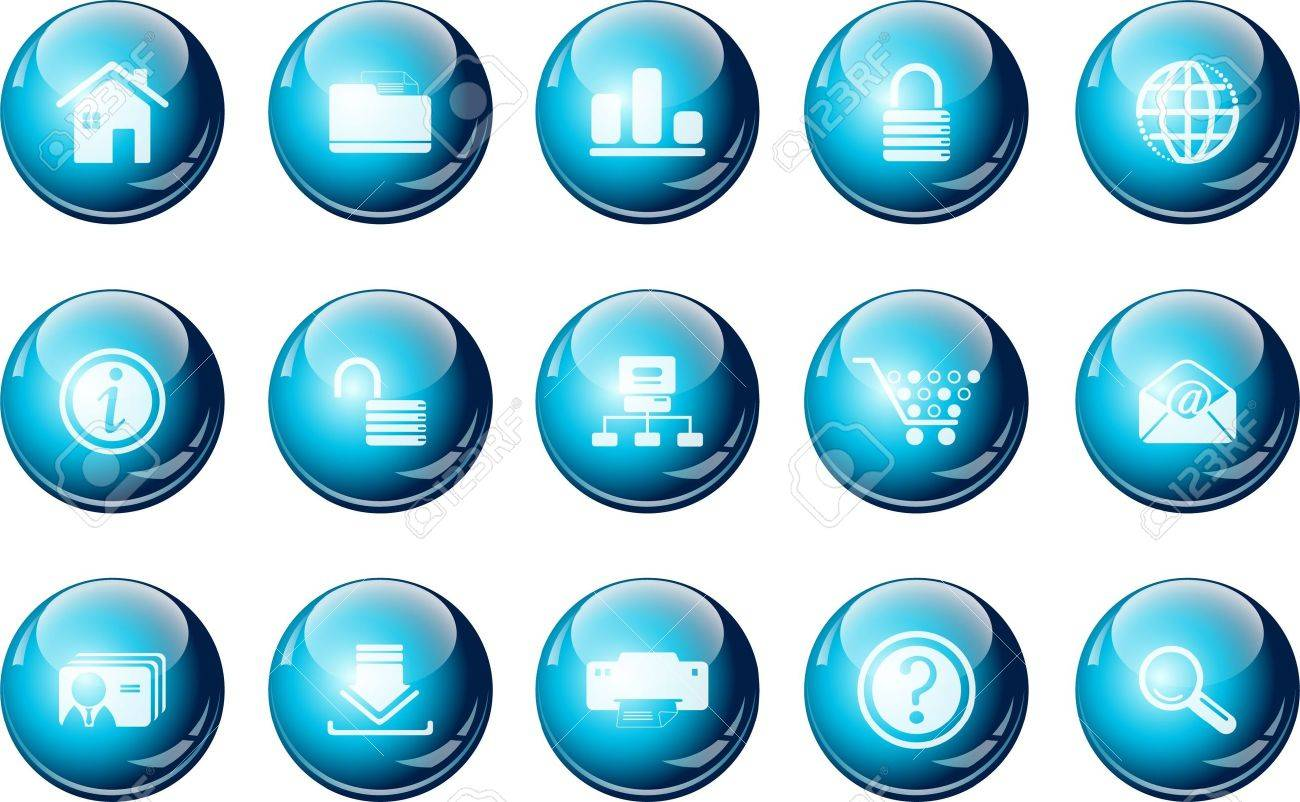 Website And Internet Icons Cyan Crystal Series Royalty Free ...