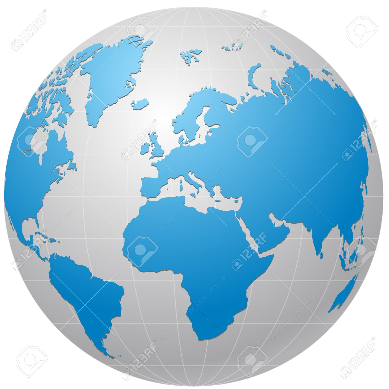 globe icon isolated on white Stock Vector - 7612043