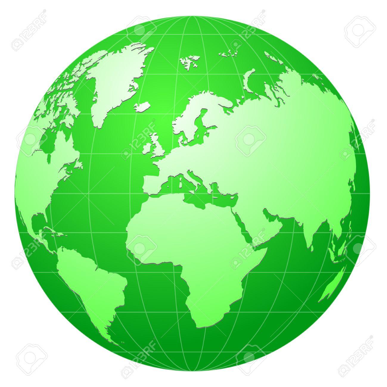 globe hemisphere  green globe Green Globe Clip Art
