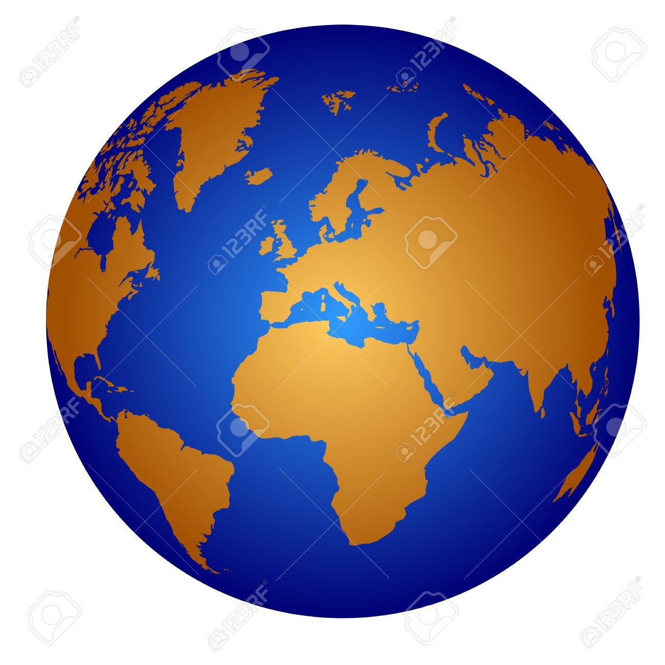 globe icon isolated on white Stock Vector - 7612038