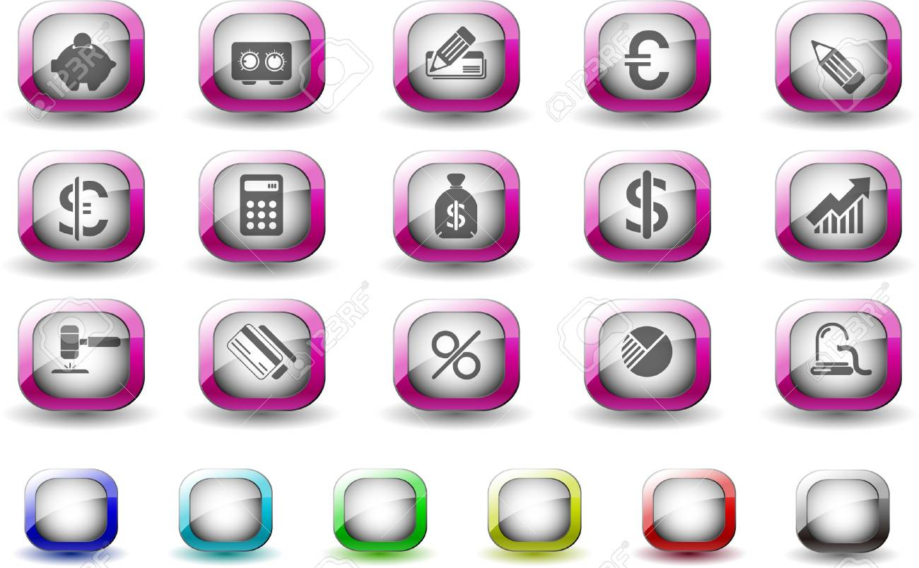 Finance and Banking icons TV Series Stock Vector - 7612446