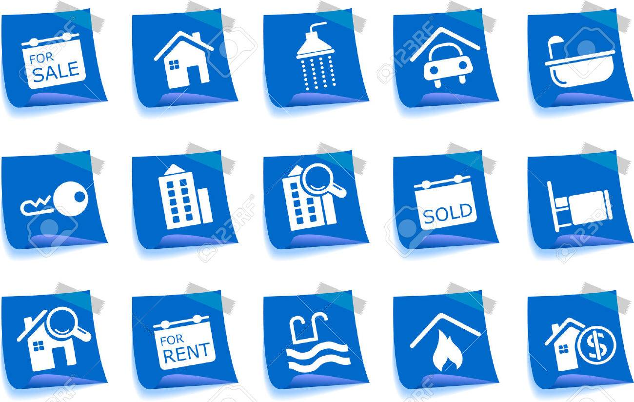 Real Estate icons Label Series Stock Vector - 7746980