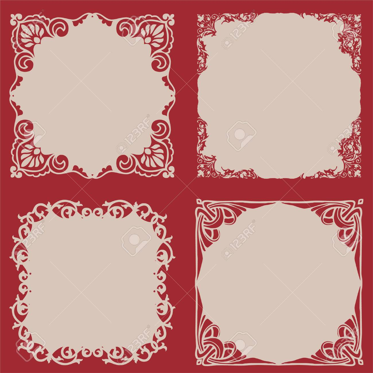 decorative frame set Stock Vector - 7747044