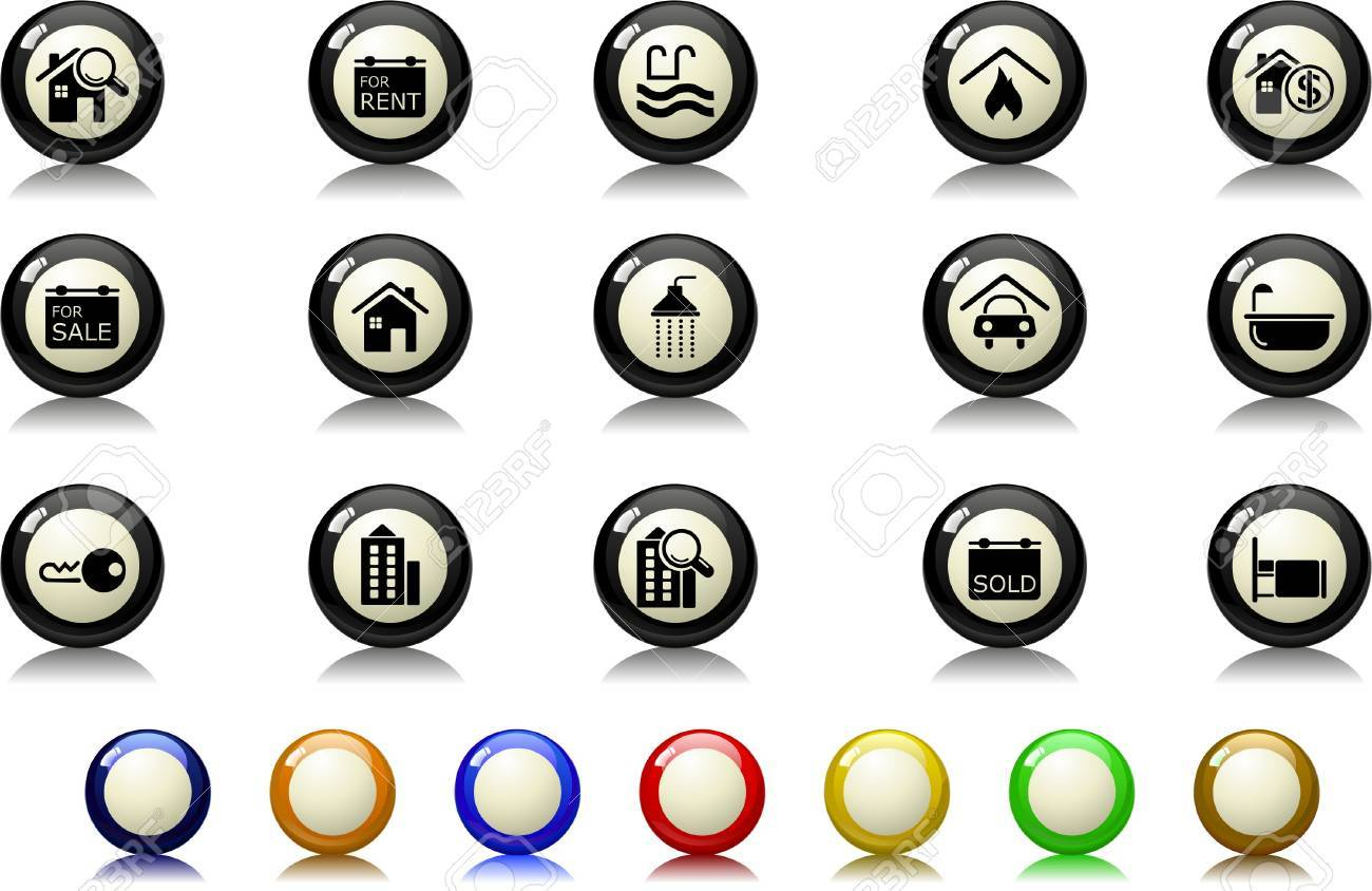 Real Estate icons Billiards  series Stock Vector - 7886840