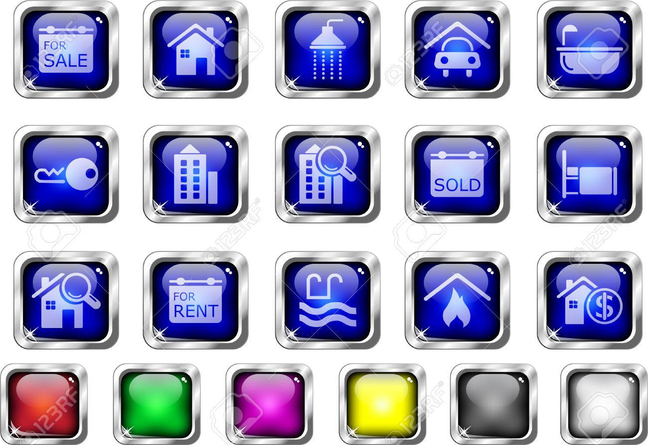 Real Estate icons Stock Vector - 7930706