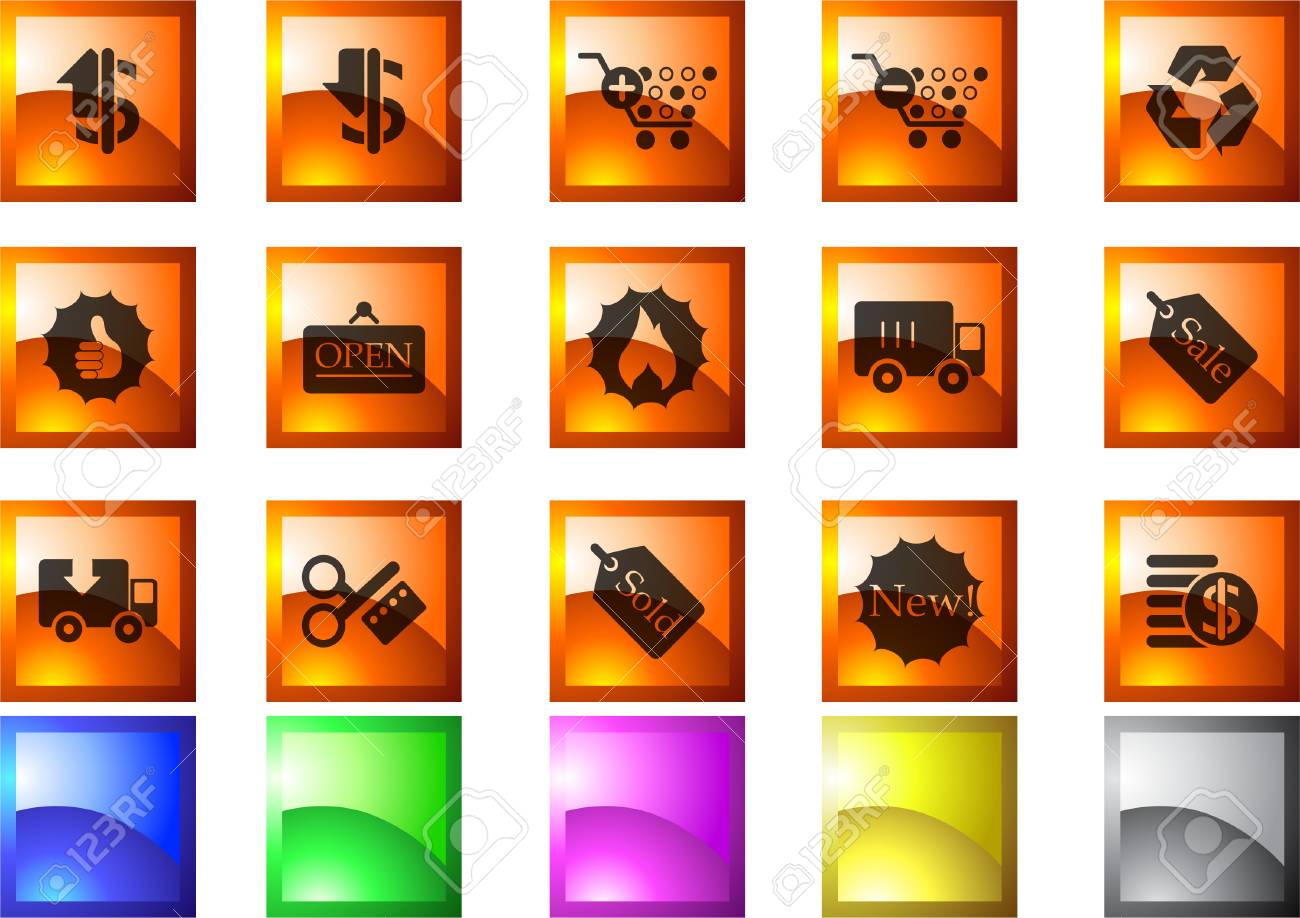 Sale and Shopping icons Stock Vector - 7930856