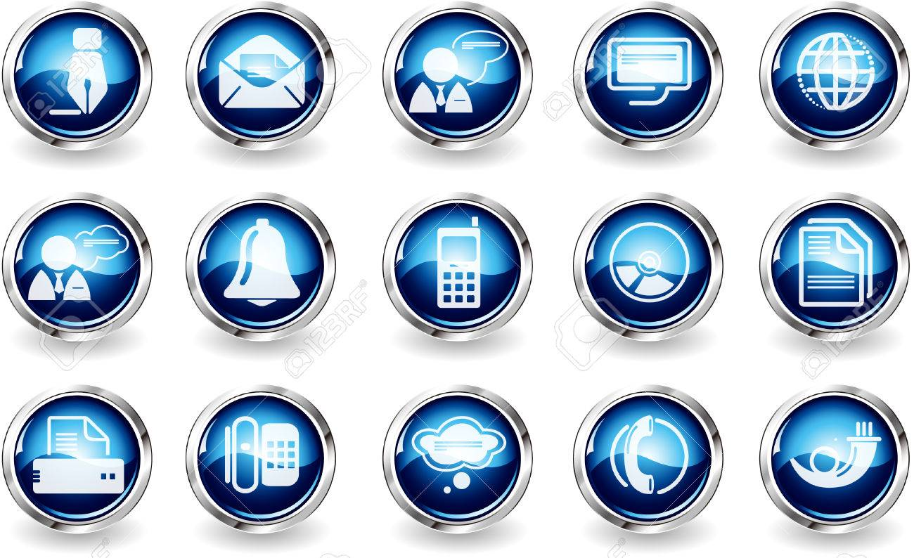 Communication icons Stock Vector - 7930837
