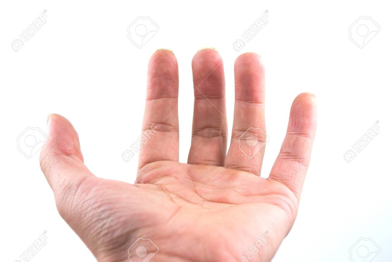 A hand of a businessman doing a holding gesture, isolated on white background. Stock Photo - 8177749