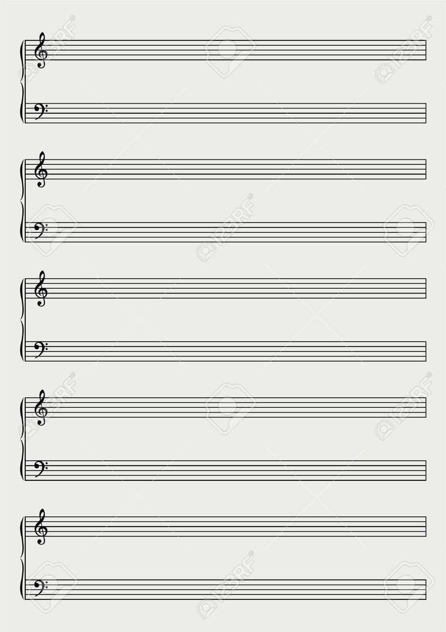 Hoja De Música De Piano Ilustraciones Vectoriales, Clip Art ...