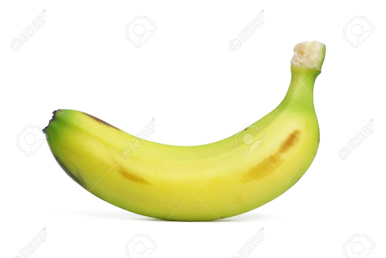 Ripe banana isolated on white background Stock Photo - 6984109