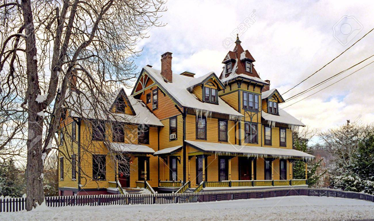 An Old Long Island House After a Major Snow Storm