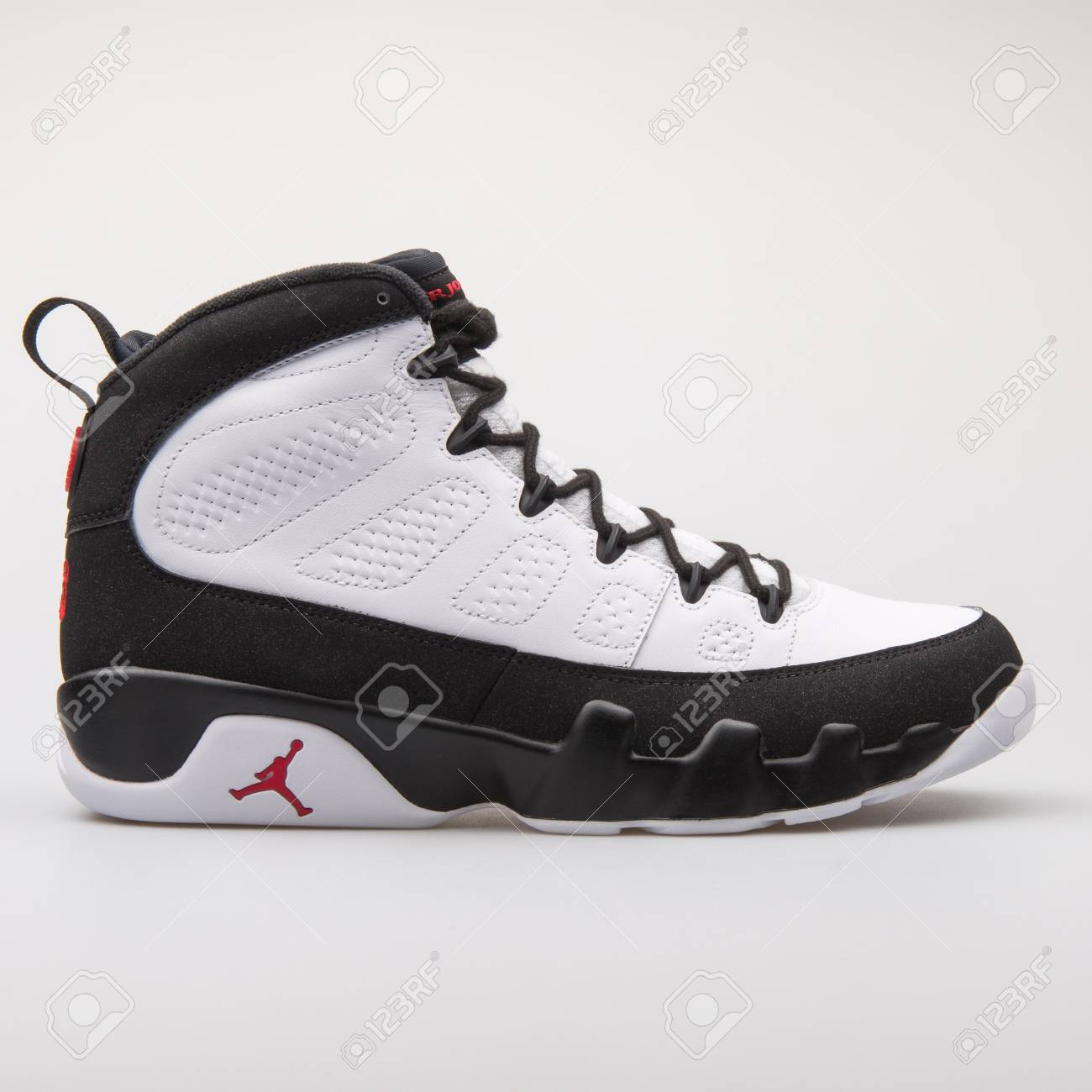 womens Air jordan 9 VIENNA, AUSTRIA - JUNE 14, 2017: Nike Air Jordan 9 Retro Black ...